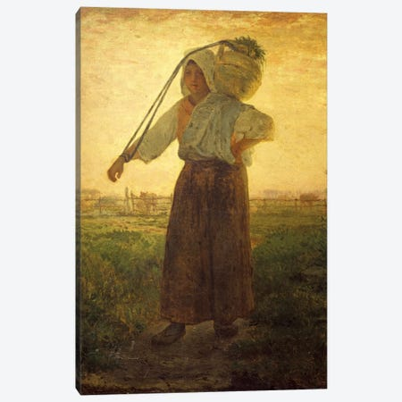 The Return From The Farm (Il Ritorno Dalla Fattoria), 1850 Canvas Print #BMN7121} by Jean-Francois Millet Art Print
