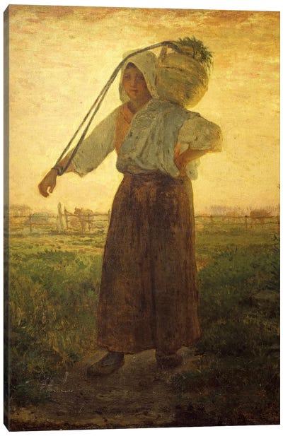 The Return From The Farm (Il Ritorno Dalla Fattoria), 1850 Canvas Art Print