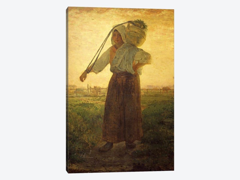 The Return From The Farm (Il Ritorno Dalla Fattoria), 1850 by Jean-Francois Millet 1-piece Canvas Print