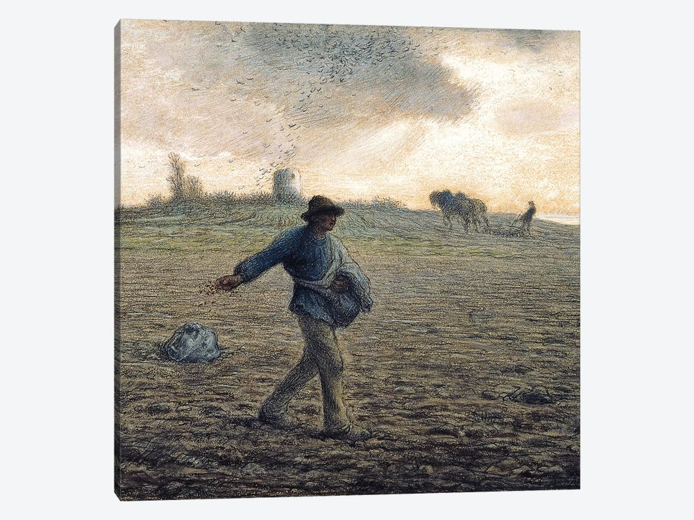 The Sower (Private Collection) by Jean-Francois Millet 1-piece Canvas Wall Art