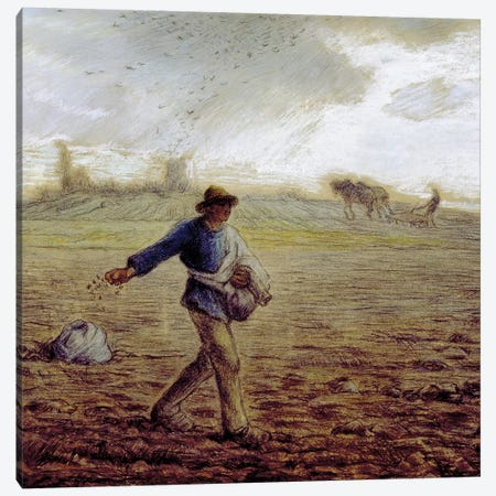 The Sower, c.1865 (The Walters Art Museum) Canvas Print #BMN7123} by Jean-Francois Millet Art Print