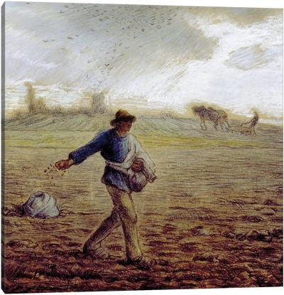 The Sower, c.1865 (The Walters Art Museum) Canvas Art Print