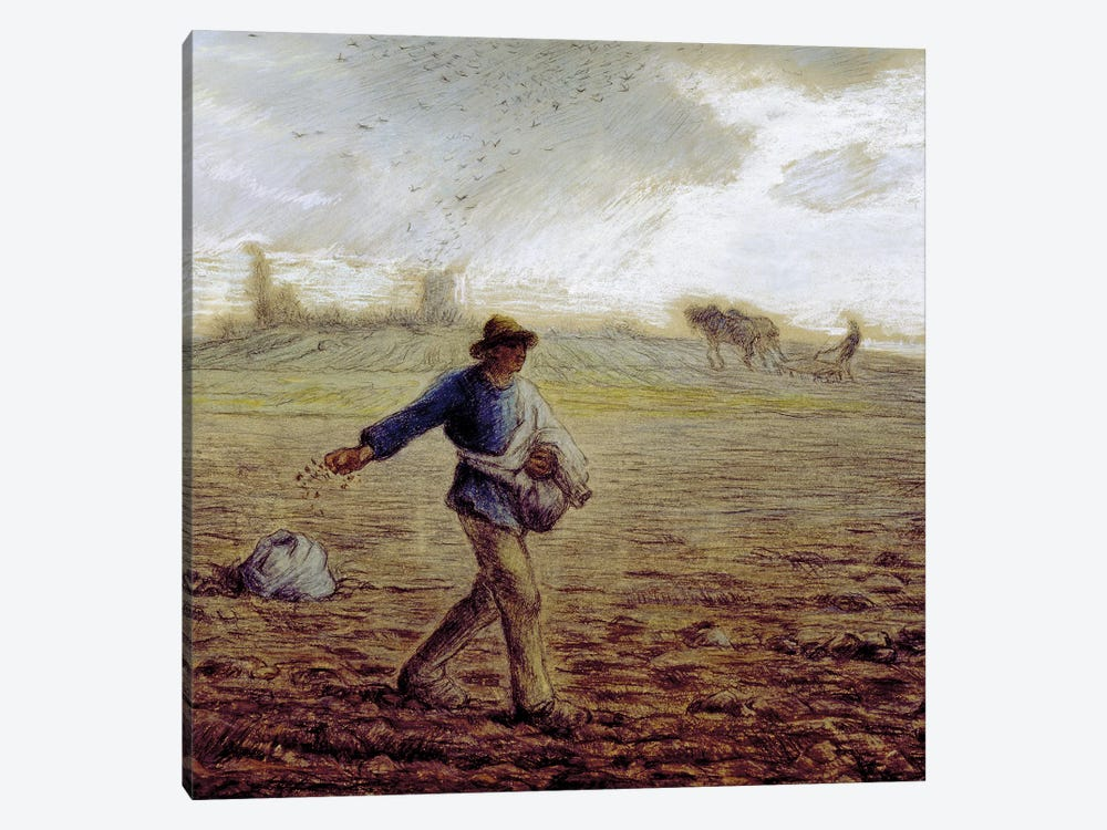 The Sower, c.1865 (The Walters Art Museum) by Jean-Francois Millet 1-piece Canvas Print