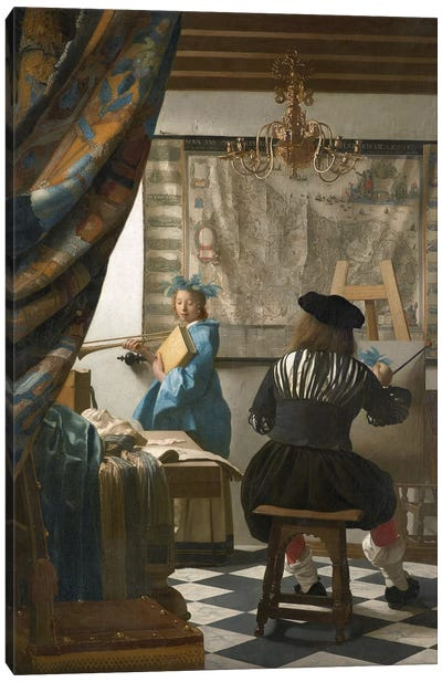 The Art Of Painting (Painter In His Studio), c.1665-66 Canvas Art Print