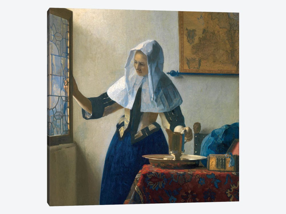 Young Woman With A Water Jug, c.1662 by Johannes Vermeer 1-piece Art Print