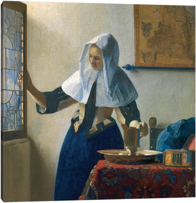 Young Woman With A Water Jug, c.1662 Canvas Art Print