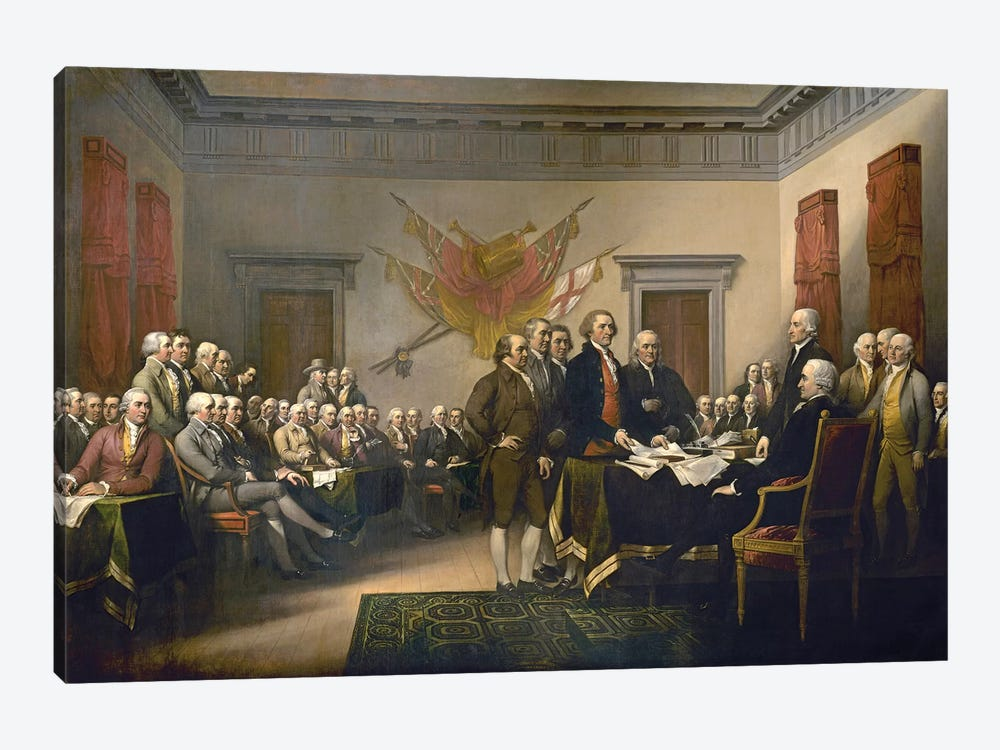 Declaration Of Independence, 1817-18 (US Capitol Collection) by John Trumbull 1-piece Canvas Art Print