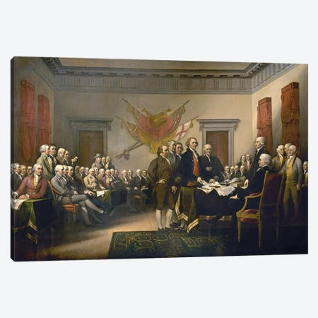 Declaration Of Independence, 1817-18 (US Capitol Collection) Canvas Print #BMN7132} by John Trumbull Canvas Art