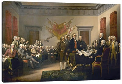 Declaration Of Independence, 1817-18 (US Capitol Collection) Canvas Art Print