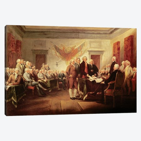 Declaration Of Independence, c.1817 (US Capitol Collection) Canvas Print #BMN7133} by John Trumbull Canvas Art