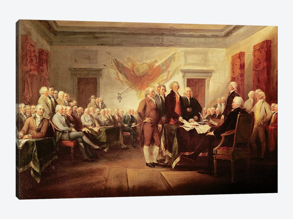 Declaration Of Independence, c.1817 (US Capitol Collection) by John Trumbull 1-piece Canvas Artwork