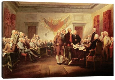 Declaration Of Independence, c.1817 (US Capitol Collection) Canvas Art Print