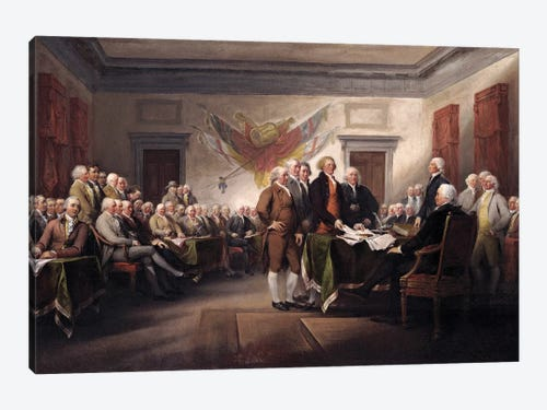 Declaration Of Independence, c.1817 (Yale Univ... | John Trumbull ...
