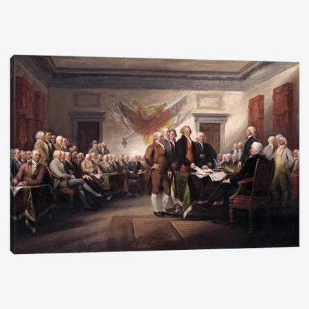 Declaration Of Independence, c.1817 (Yale University Art Gallery) Canvas Print #BMN7134} by John Trumbull Art Print