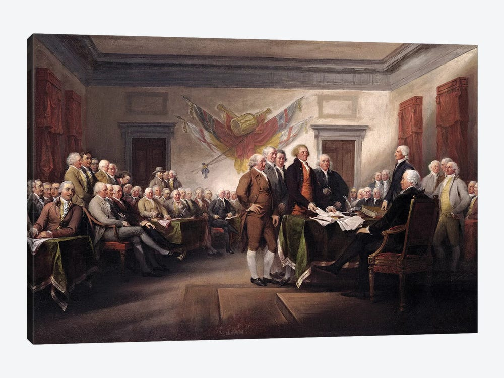 Declaration Of Independence, c.1817 (Yale University Art Gallery) by John Trumbull 1-piece Art Print