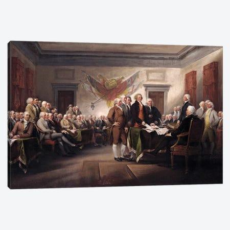 Declaration Of Independence, c.1817 (Yale University Art Gallery) Canvas Print #BMN7134} by John Trumbull Art Print