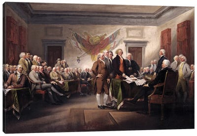 Declaration Of Independence, c.1817 (Yale University Art Gallery) Canvas Art Print