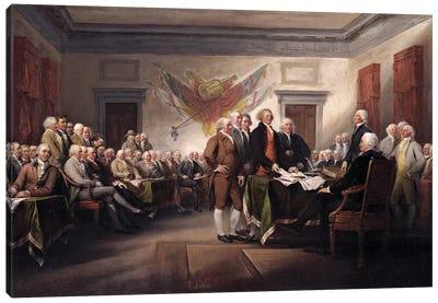 Declaration Of Independence, c.1817 (Yale University Art Gallery) Canvas Art Print