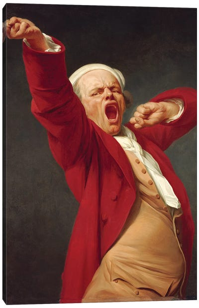 Self-Portait, Yawning, 1783 Canvas Art Print