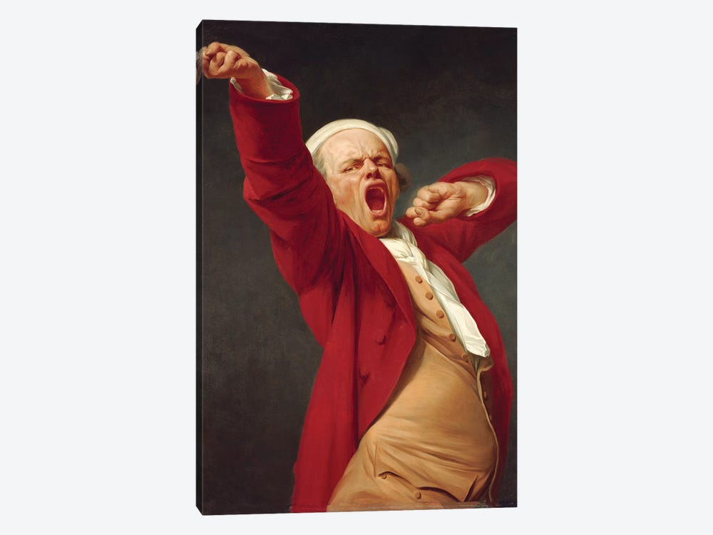 Self-Portait, Yawning, 1783 by Joseph Ducreux 1-piece Canvas Print
