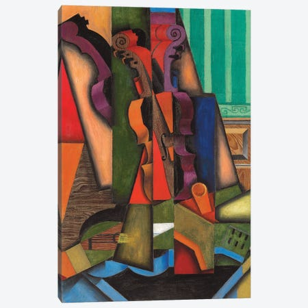 Violin And Guitar, 1913 Canvas Print #BMN7138} by Juan Gris Canvas Wall Art