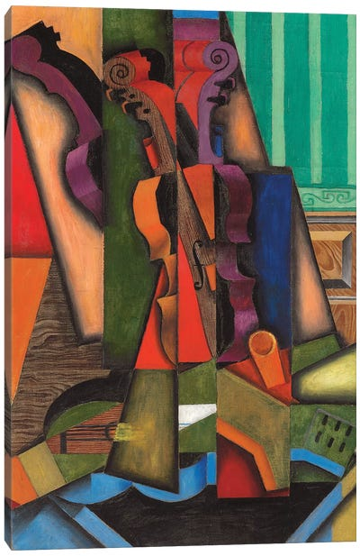 Violin And Guitar, 1913 Canvas Art Print
