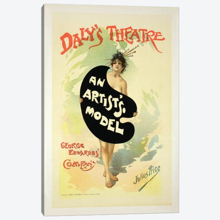 An Artist's Model By The George Edwardes' Company At Daly's Theatre Advertisement Canvas Print #BMN7141} by Julius Price Canvas Art Print