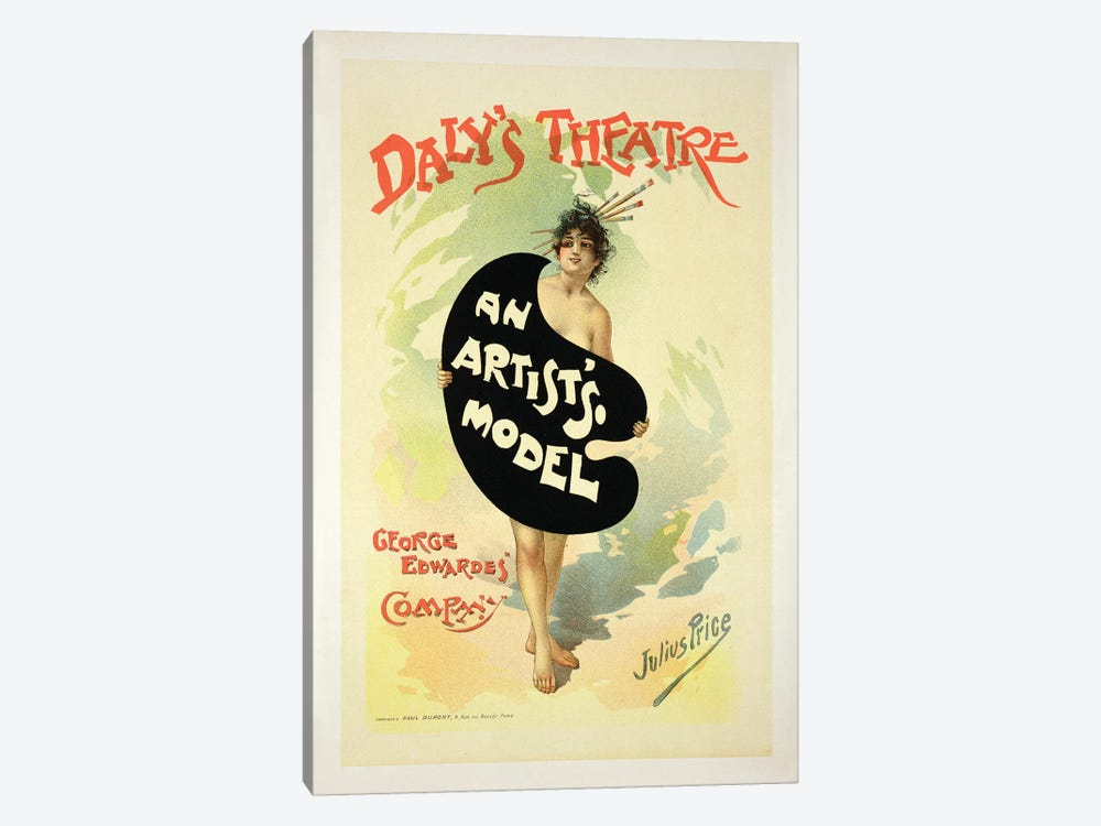 An Artist's Model By The George Edwardes' Company At Daly's Theatre Advertisement by Julius Mendes Price 1-piece Art Print
