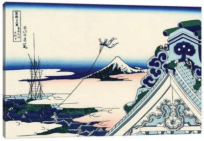 Asakusa Honganji Temple In The Eastern Capital, c.1830 Canvas Art Print
