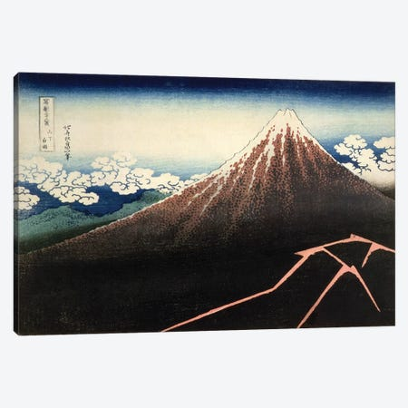Fuji Above The Lightning (Fitzwilliam Museum, University Of Cambridge) Canvas Print #BMN7147} by Katsushika Hokusai Canvas Wall Art