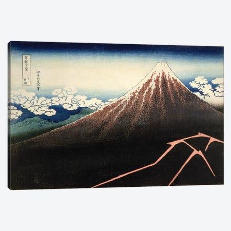 Fuji Above The Lightning (Fitzwilliam Museum, University Of Cambridge) Canvas Print #BMN7147} by Katsushika Hokusai Canvas Wall Art