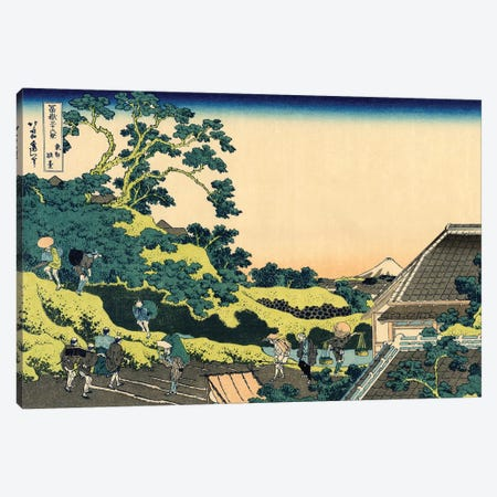 Fuji From Mishima Pass, Edo, c.1830 Canvas Print #BMN7148} by Katsushika Hokusai Canvas Print