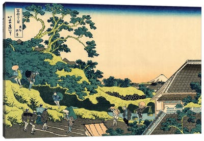 Fuji From Mishima Pass, Edo, c.1830 Canvas Art Print