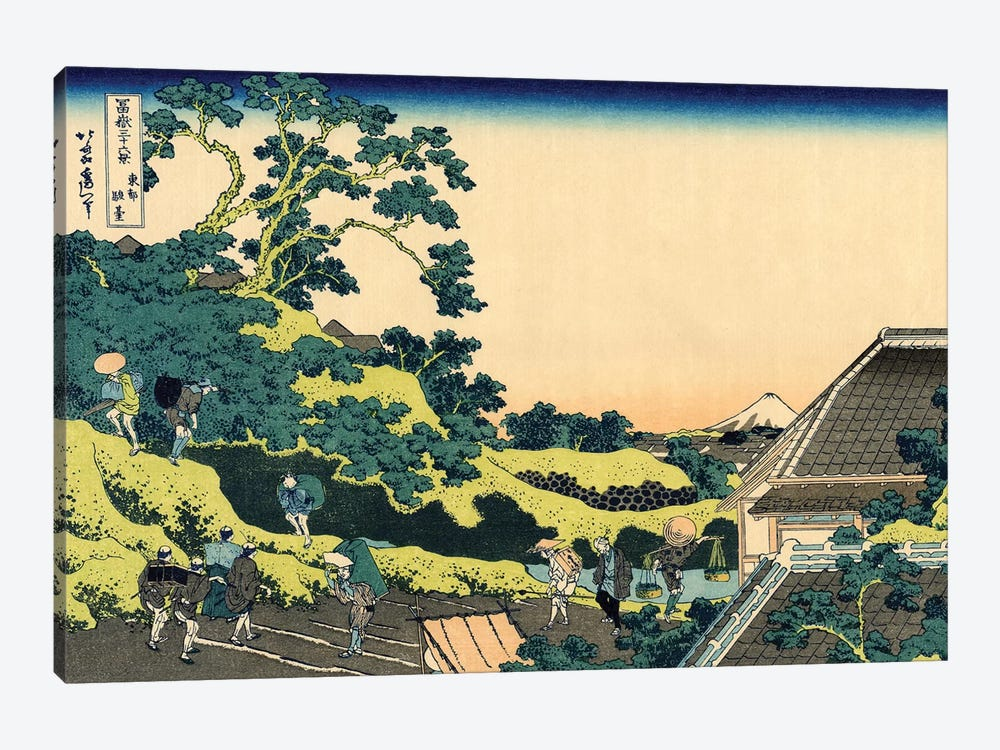 Fuji From Mishima Pass, Edo, c.1830 by Katsushika Hokusai 1-piece Canvas Wall Art