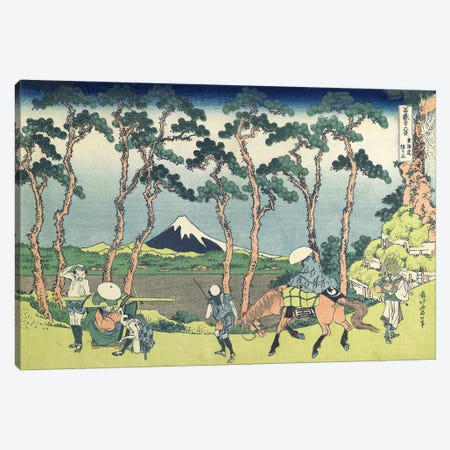 Hodogaya On The Tokaido Road, 1831-34 Canvas Print #BMN7150} by Katsushika Hokusai Canvas Artwork