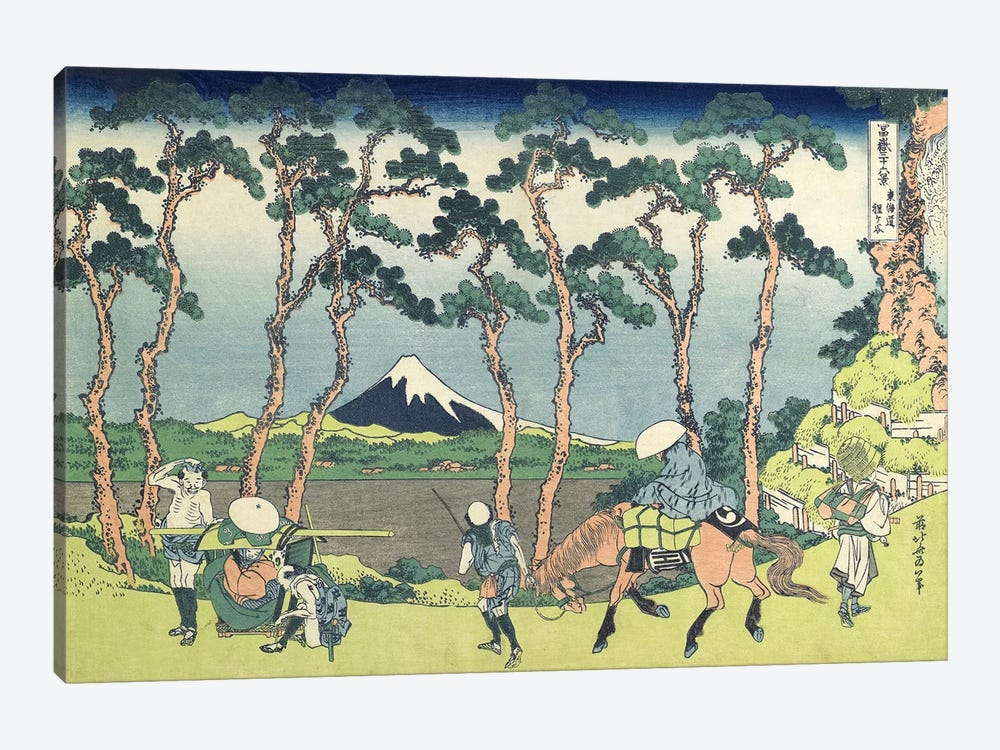 Hodogaya On The Tokaido Road, 1831-34 by Katsushika Hokusai 1-piece Canvas Print
