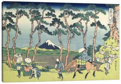 Hodogaya On The Tokaido Road, 1831-34 Canvas Art Print