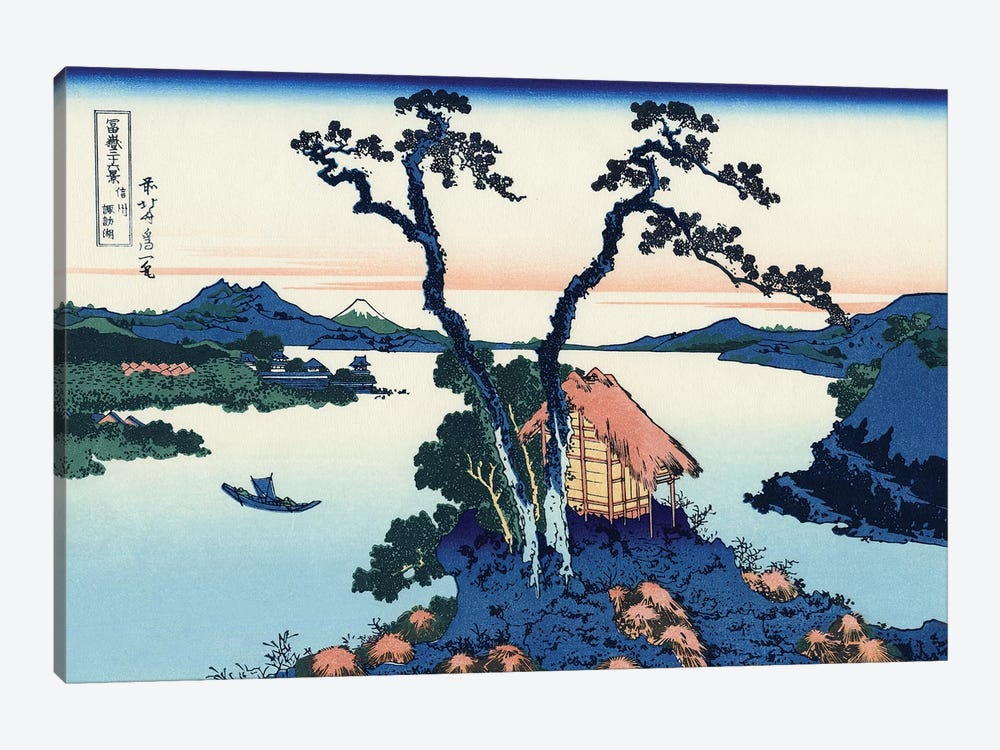 Lake Suwa In The Shinano Province, c.1830 by Katsushika Hokusai 1-piece Canvas Art