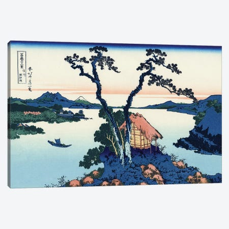Lake Suwa In The Shinano Province, c.1830 Canvas Print #BMN7153} by Katsushika Hokusai Canvas Art