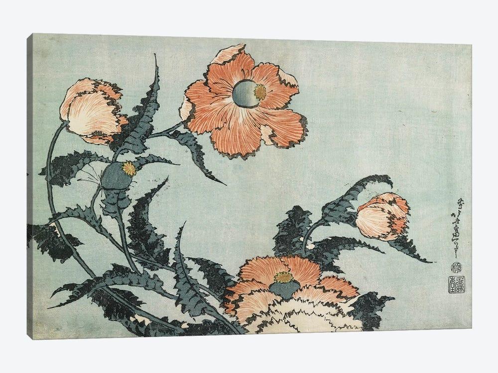 Poppies, c.1832 by Katsushika Hokusai 1-piece Canvas Print