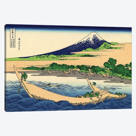 Shore Of Tago Bay, Ejiri At Tokaido, c.1830 Canvas Print #BMN7157} by Katsushika Hokusai Art Print