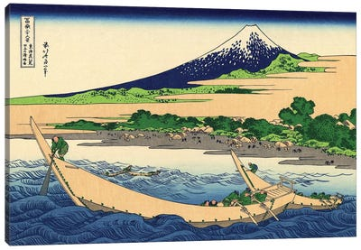 Shore Of Tago Bay, Ejiri At Tokaido, c.1830 Canvas Art Print