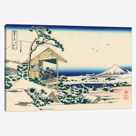 Tea House At Koishikawa, The Morning After Snowfall, c.1830 Canvas Print #BMN7160} by Katsushika Hokusai Art Print