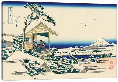 Tea House At Koishikawa, The Morning After Snowfall, c.1830 Canvas Art Print