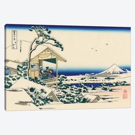 Tea House At Koishikawa, The Morning After Snowfall, c.1830 Canvas Print #BMN7160} by Katsushika Hokusai Art Print