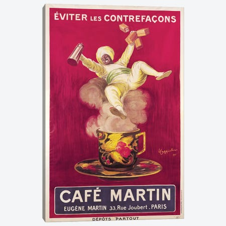Café Martin Coffee Advertisement, 1921 Canvas Print #BMN7162} by Leonetto Cappiello Canvas Art Print