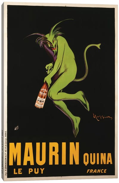 Maurin Quina Advertisement, c.1922 Canvas Art Print