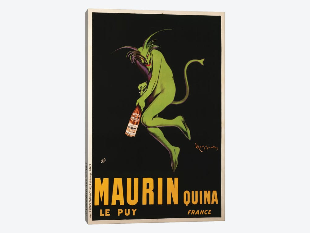 Maurin Quina Advertisement, c.1922 by Leonetto Cappiello 1-piece Canvas Print