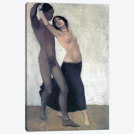 An Afro-European Couple Of Dancers, c.1903 Canvas Print #BMN7165} by Otto Müller  Canvas Art