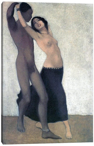 An Afro-European Couple Of Dancers, c.1903 Canvas Art Print